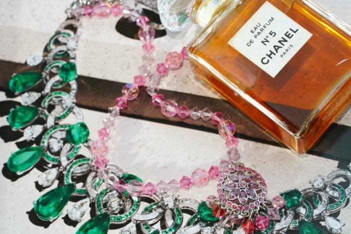 SWAROVSKI Necklace 粉紅/紫蘿蘭 水晶項鍊