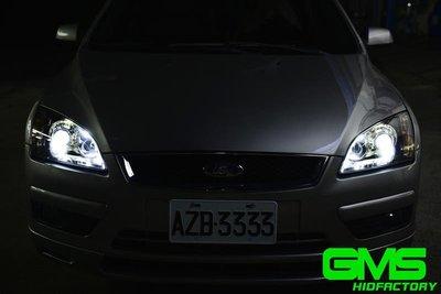 FORD 福特 FOCUS MK2 遠近魚眼HID大燈模組改裝 電鍍飾圈
