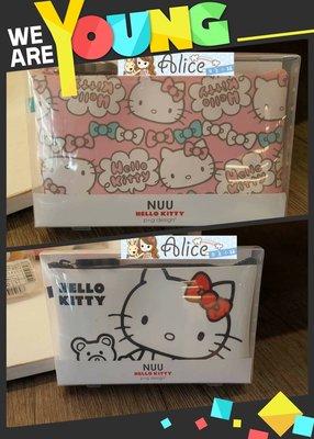 ☆愛莉詩☆New Arrival~日本直送~Hello Kitty果凍拉鍊收納包-滿版 2色(個)現貨ing