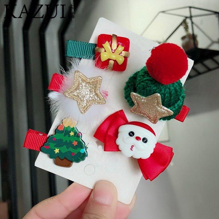 圣誕節發夾兒童新年幼兒園禮物可愛小鹿雪人女孩寶寶女童發卡頭飾