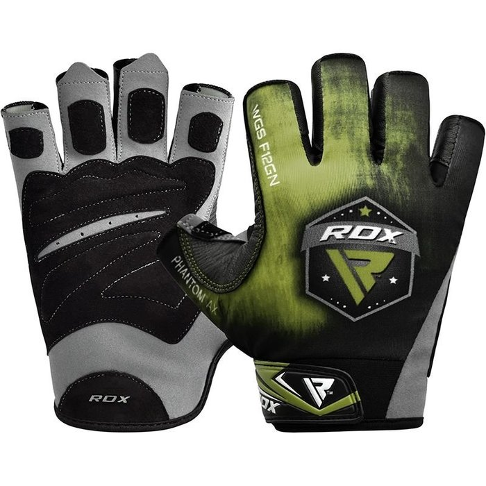 【線上體育】RDX GYM GLOVES SUMBLIMATION F12 GREEN RDX016