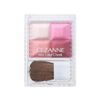 【東京速購】日本代購~日本製 CEZANNE Mix Color Cheek 四色腮紅 玫瑰新色04號