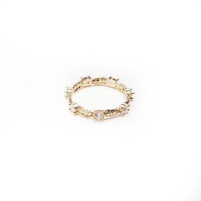 韓國❤️月桂冠的榮耀 耀眼 水鑽 戒指【Verinas韓系美飾】