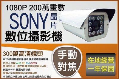 台灣製造 戶外防水型 含收納功能 1080P 2.8MM-12MM 手調焦距功能 AHD CVI TVI 支援 UTC