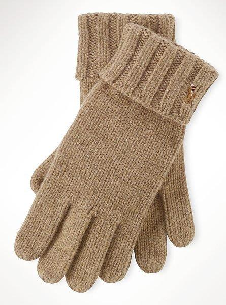 破盤出清大降價!全新Polo Ralph Lauren經典駝色咖啡灰色美利諾羊毛手套,低價起標無底價!本商品免運費!