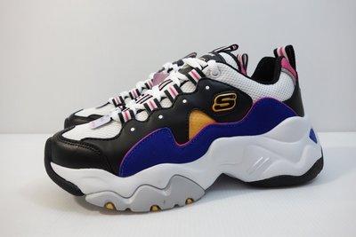 =小綿羊= SKECHERS DLITES 3.0 白黑藍 12955BKBL 女生 老爹鞋 復古鞋 航海王