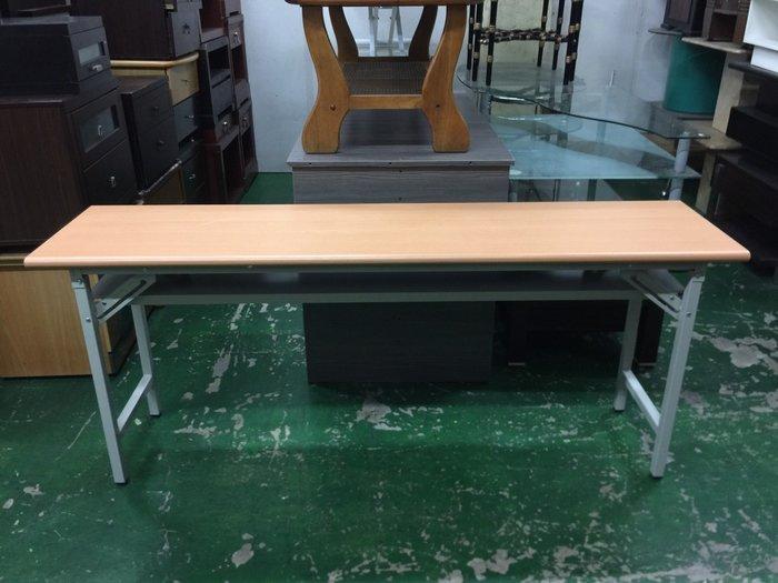非凡二手家具 B190-13木紋檯面會議桌*折合桌*折腳桌*長桌*工作桌*辦公桌*電腦桌*折疊桌*洽談桌
