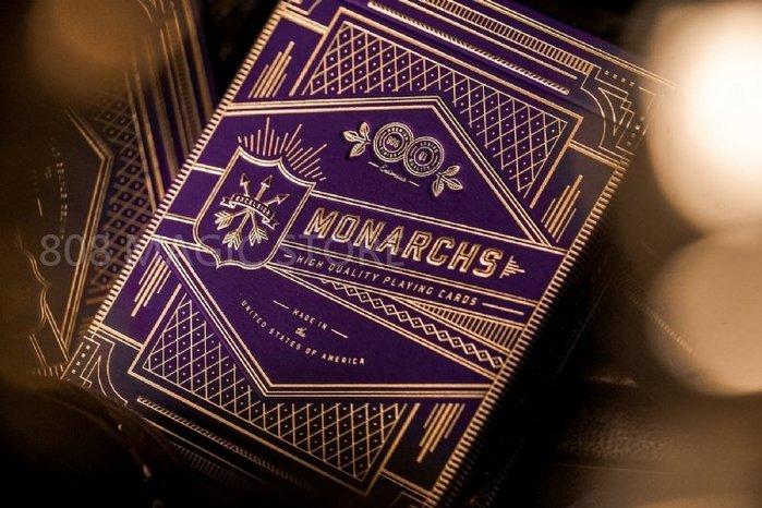 [808 MAGIC]魔術道具 Purple Monarch 紫色君王 限量發行 收藏系列 撲克牌