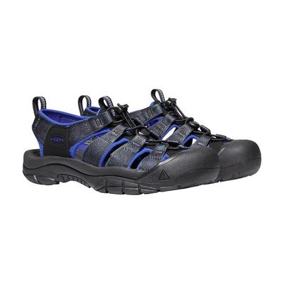 =CodE= KEEN NEWPORT H2 SANDALS編織彈性綁繩護趾防水包頭涼鞋(黑藍)1023418 拖鞋 男