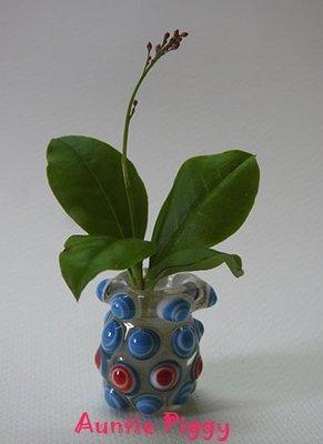 豬豬姨~Auntie Piggy~Miniature Glass Vessel~可愛小花器~降~