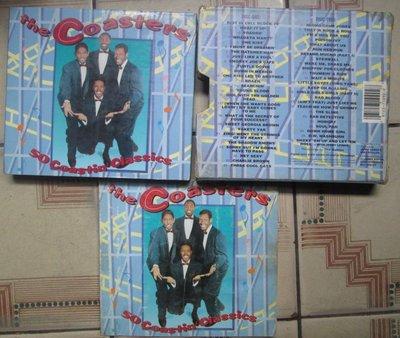 進口CD(1CD.附樂團詳析)~The Coasters--Hits專輯.收錄Yakety Yak等26曲.1950年代