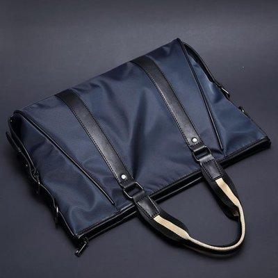 ZIHOPE 潮流新款韓版男包手提包 商務公文包單肩斜背包 休閒防水耐磨包ZI812