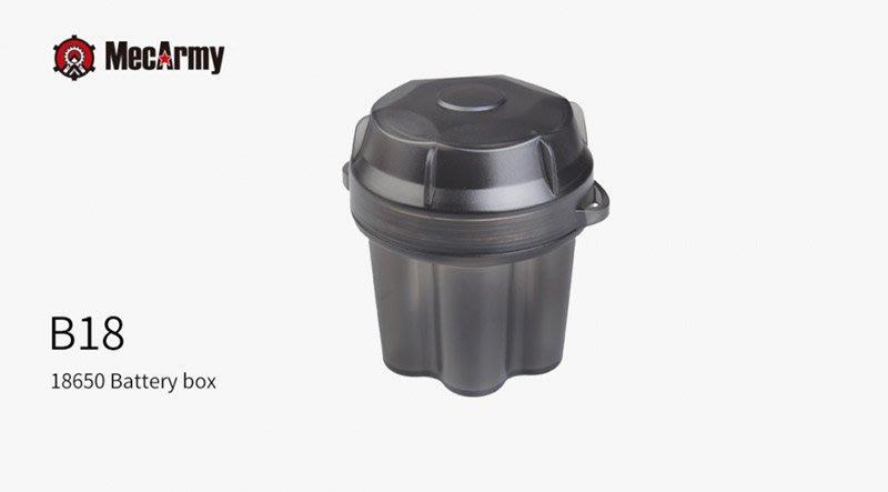 【angel 精品館 】MecArmy B18 18650防水電池盒 / 6顆裝 / 特價品