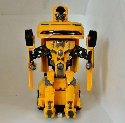 ☆優達團購☆2.4G遙控變形機器人 TT661 大黃峰 遙控車 皇峰戰神 變形金鋼 機器人變汽車 充電式 8入4650元 台南市
