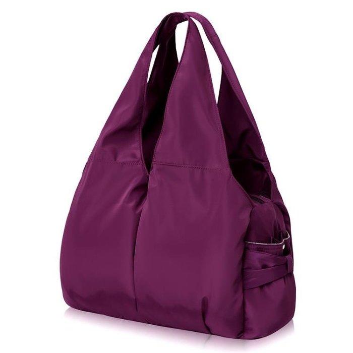 手提包尼龍肩背包大包防潑水牛津布女包超輕時尚手提包多口袋大容量媽咪包一件免運