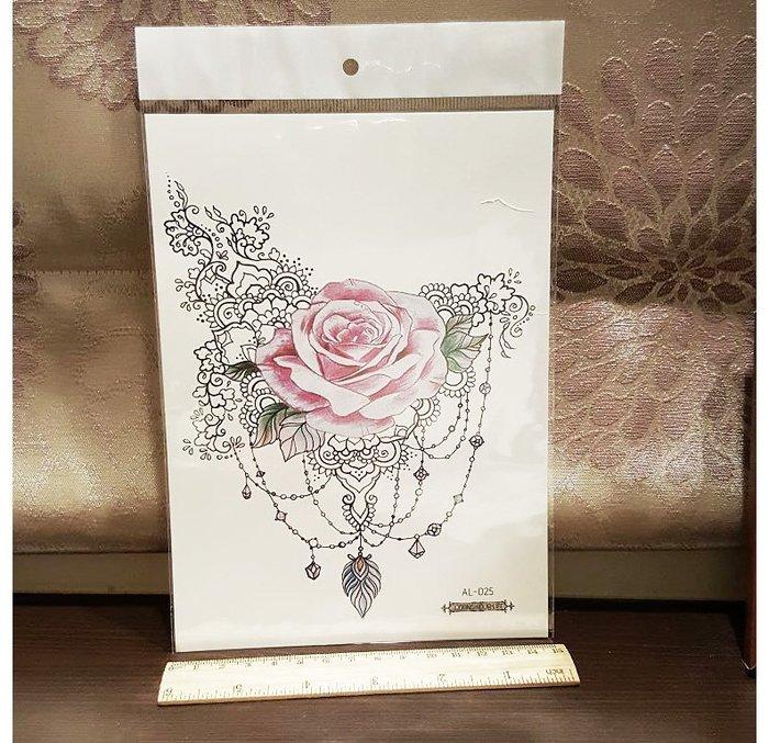 【萌古屋】玫瑰寶石手臂大圖 - 男女防水紋身貼紙原宿刺青貼紙AL-025 K29