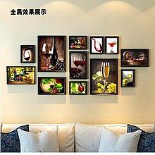 酒莊裝飾畫西餐廳紅酒杯洋酒屋抽象掛畫酒窖壁畫組合相框照片牆掛(14組可選)