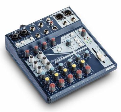 ♪♪學友樂器音響♪♪ Soundcraft Notepad-8FX 類比混音器 8軌 USB介面 內建效果器 mixer
