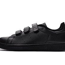 D-BOX  Adidas STAN SMITH CF J 魔鬼氈 史密斯 板鞋 純黑 金標