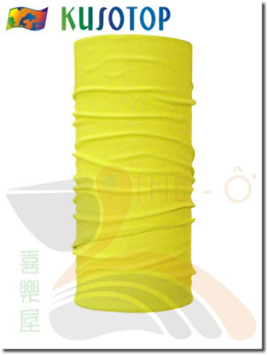 KUSOTOP 原創系列 運動魔術頭巾 螢光黃 吸濕快乾 抗UV 柔軟 透氣 台灣製造 喜樂屋戶外休閒