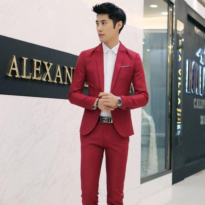 男士正裝小西裝全套薄韓版西服套裝一套潮流帥氣夏季  ys2365