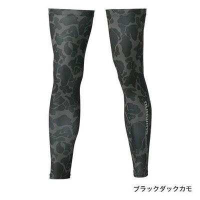 SHIMANO AC-068Q 防曬腿套 迷彩黑