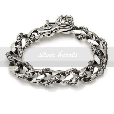 【SILVER HEARTS】Goro'sChrome Hearts克羅心Fancy Link Bracelet純銀手鍊