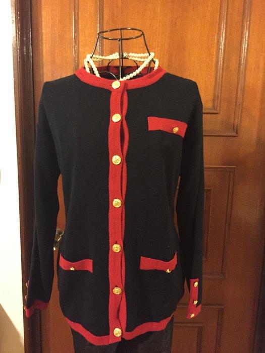 貴婦名媛小香風 - 黑色長袖上衣+裙子 (促銷商品)