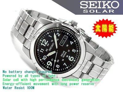【全新原廠SEIKO】【天美鐘錶店家直營】【下殺↘超低價有保固】光動能100M防水腕錶 SNE095P1