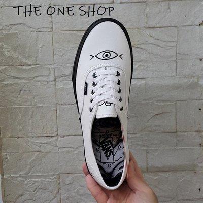 VANS Authentic 白色 白黑 黑底 帆布 眼睛 塗鴉 板鞋 帆布鞋 VN0A2Z5IT0Y