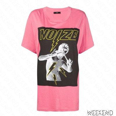 【WEEKEND】 DIESEL Noize 寬鬆 長版 短袖 T恤 粉紅色 18秋冬