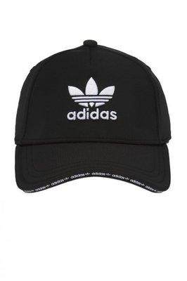ADIDAS CAP 愛迪達 黑白色 三葉草 文字滾邊 運動 可調式 老帽 帽子 休閒 DH4409 YTS