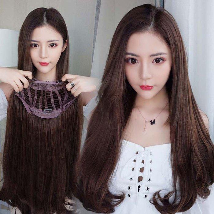 全新設計U型半罩式假髮 韓系微卷長髮 逼真自然【MW473】☆雙兒網☆