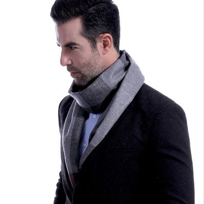 羊毛 圍 巾-商務經典條紋色塊秋冬防寒男女披肩4色73ts8[獨家進口][米蘭精品]