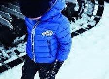 Moncler REMBRANDY Down Jacket 雙 LOGO 羽絨外套 (帽可拆) 亮藍