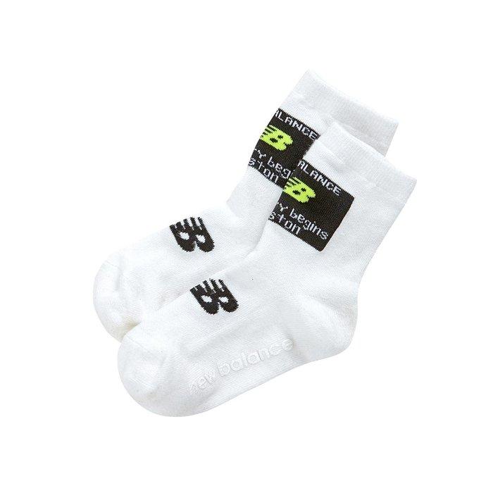 【Luxury】NewBalance NB 兒童襪子 棉襪 中筒襪  小童 中童 韓國代購 正品 螢光黃 螢光粉 白
