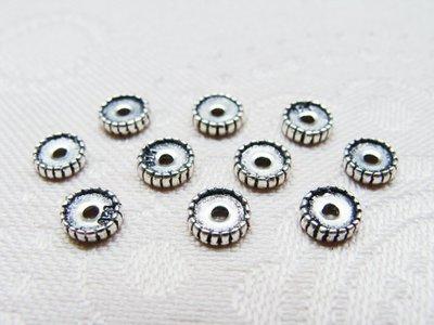 嗨,寶貝手創飾品工作室* 925純銀飾 DIY串珠配件☆擋珠 隔珠墊片配件☆客製化