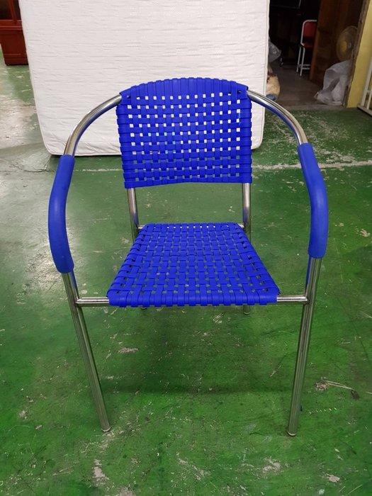 非凡二手家具 全新品藍色南洋風蘋果椅*摩登椅*休閒椅*藤椅*餐椅*戶外椅*咖啡椅*公婆椅*辦公椅*洽談椅*接待椅*化妝椅