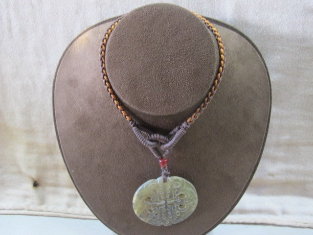 二手舖 NO.3818 天然古玉項鍊 老玉 玉墜 墜飾 古董擺件 首飾飾品