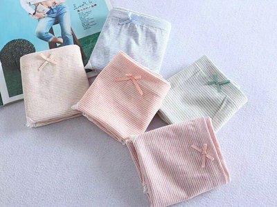 楦巷亦宅 日本有機彩棉女式底褲內褲1盒5入 / OV632