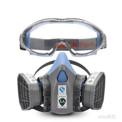 防毒面具 噴漆專用防煙防塵粉塵防護罩農藥甲醛工業化工全面口罩 BQ972