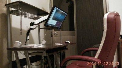 15~27吋通用 LCD LED 液晶螢幕 電腦螢幕手臂 螢幕架 螢幕支架 單節型螢幕架 24吋 25吋 26吋 27吋