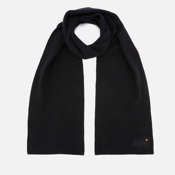 【Superdry】極度乾燥五折現貨,男款簡約黑色素面圍巾,不輸Timberland、Stussy、保證正品