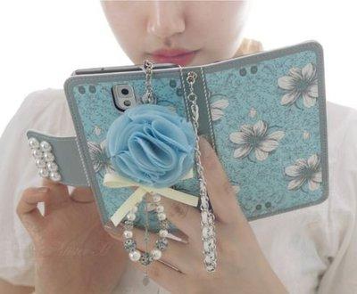S175韓國珍珠花皮套 Note 8 S9 plus S8 plus S7 Edge 5 A8 J7手機殼手機套iphone X iphone 8 Plus 6