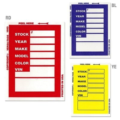 (I LOVE樂多)美國進口 Dealer Supply Window Sticker 車籍資料貼紙 貼紙