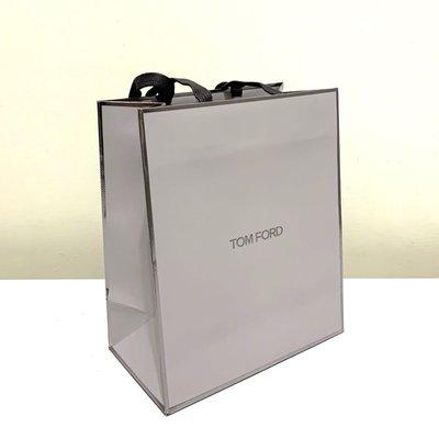 TOM FORD 全新 銀色邊 淺灰色 紙袋 禮物袋 高質感燙金字