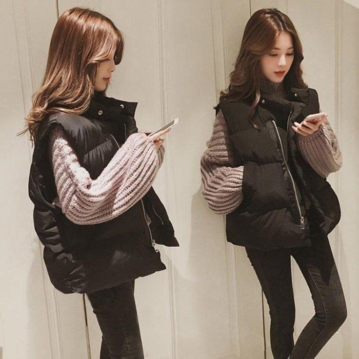 【母親節特惠 超低折扣碼】馬甲女冬短款韓版背心新款中長款  初服