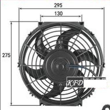 10吋12V汽車空調扇 80W排風扇熱 改裝超薄純銅線圈 雙滾珠軸承電機