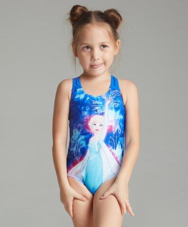 ~有氧小舖~SPEEDO 幼童連身三角泳衣 正版冰雪奇緣 艾莎 Elsa