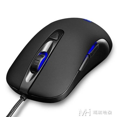 日和生活館 滑鼠有線靜音USB電腦辦公筆記本臺式商務家用網吧LOL通用S686